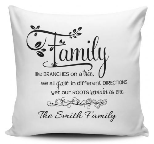 Personalised Family Like Branches On A Tree Cushion Cover